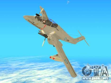 FMA IA-58 Pucara para la visión correcta GTA San Andreas