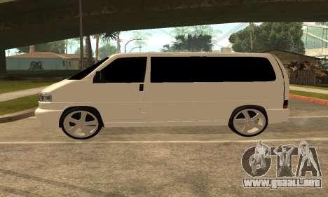 Volkswagen T4 Transporter para GTA San Andreas left