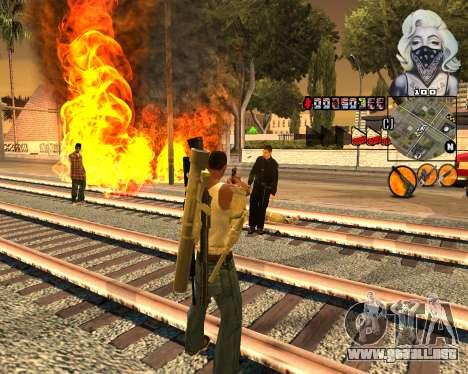 C-HUD Marilyn Monroe para GTA San Andreas tercera pantalla