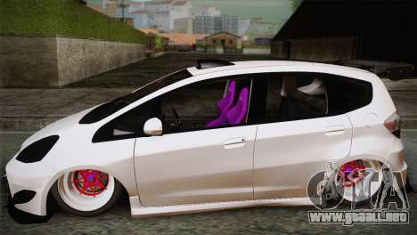 Honda Jazz RS Street Edition para GTA San Andreas left