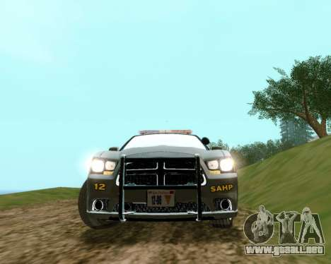 Dodge Charger 2012 SAHP para GTA San Andreas vista posterior izquierda
