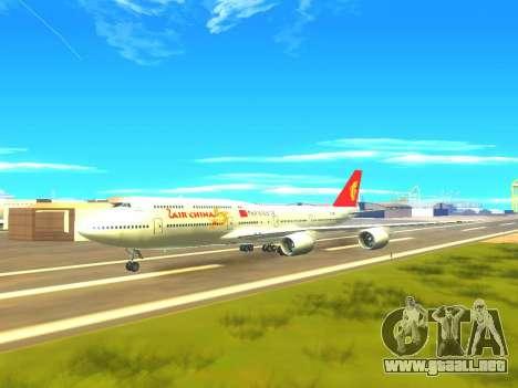 Boeing 747 Air China para vista inferior GTA San Andreas
