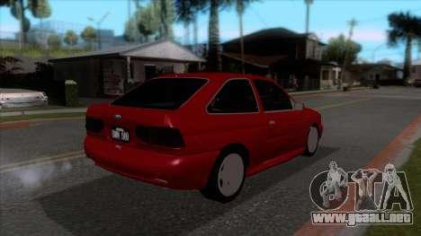 Ford Escort 1996 para la visión correcta GTA San Andreas