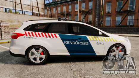 Ford Focus 2013 Hungarian Police [ELS] para GTA 4 left