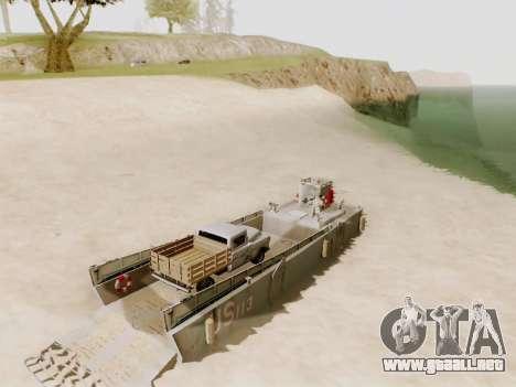 Landing Craft para la vista superior GTA San Andreas