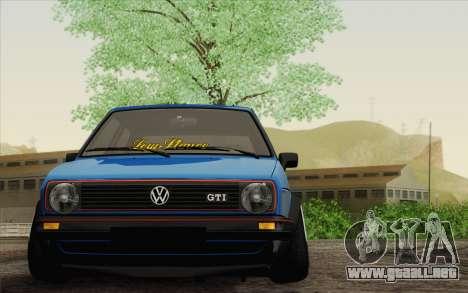 Volkswagen Golf MK2 LowStance para GTA San Andreas vista posterior izquierda