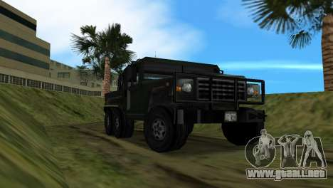 Patriot 6x6 para GTA Vice City vista posterior