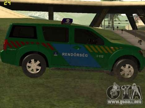 Nissan Pathfinder Police para la visión correcta GTA San Andreas