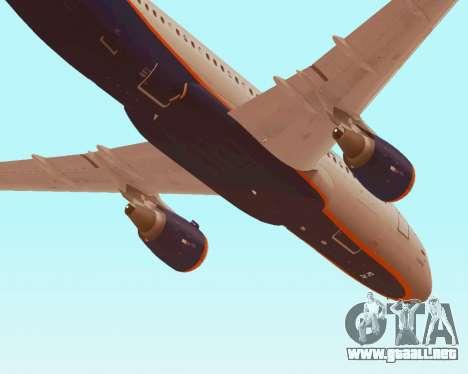 Airbus A320-200 De Aeroflot para GTA San Andreas interior