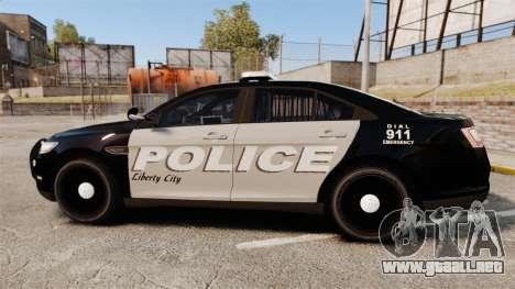 Ford Taurus LCPD Interceptor 2011 [ELS] para GTA 4 left