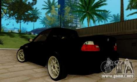 BMW M3 para GTA San Andreas vista posterior izquierda