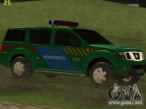 Nissan Pathfinder Police para visión interna GTA San Andreas