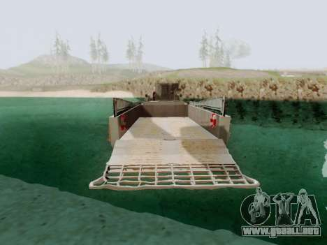 Landing Craft para GTA San Andreas vista posterior izquierda