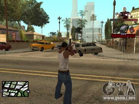 C-HUD hombre de Hierro para GTA San Andreas tercera pantalla
