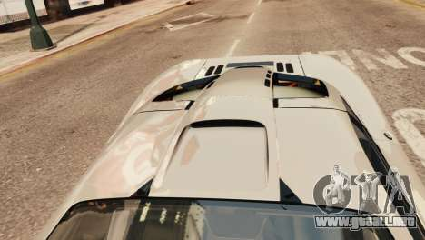McLaren F1 XP5 para GTA 4 vista hacia atrás