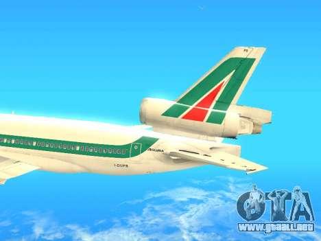 McDonnell Douglas MD-11 Alitalia para visión interna GTA San Andreas
