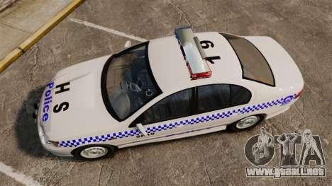 Ford Falcon XR8 Police Western Australia [ELS] para GTA 4 visión correcta