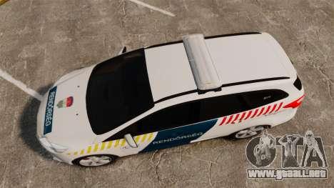 Ford Focus 2013 Hungarian Police [ELS] para GTA 4 visión correcta
