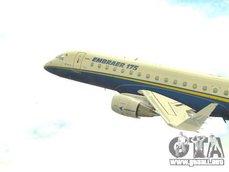 Embraer 175 HOUSE para GTA San Andreas left