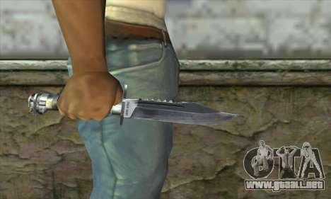 El cuchillo de Stalker para GTA San Andreas tercera pantalla