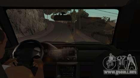 Ford Escort 1996 para visión interna GTA San Andreas