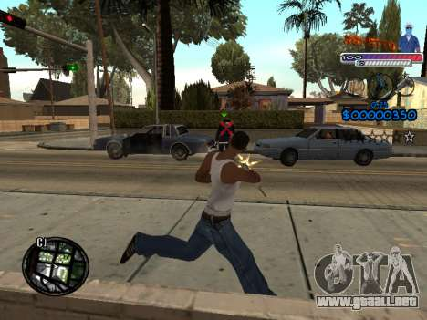 El nuevo C-HUD Ghetto para GTA San Andreas sucesivamente de pantalla