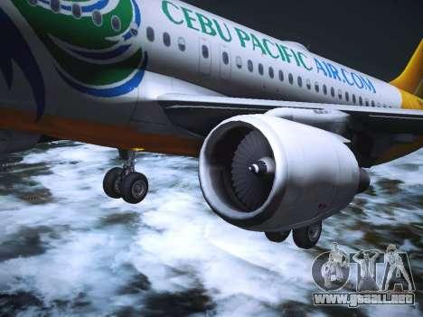 Airbus A320 Cebu Pacific Air para GTA San Andreas interior