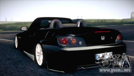 Honda S2000 para GTA San Andreas vista posterior izquierda