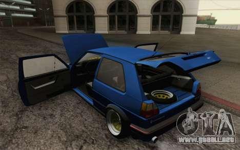 Volkswagen Golf MK2 LowStance para GTA San Andreas interior