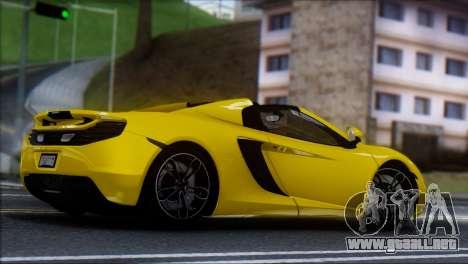 McLaren MP4-12C Spider para GTA San Andreas left