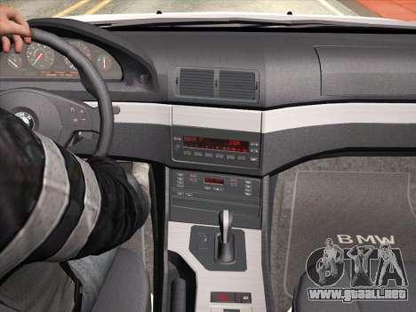 BMW 530d E39 para vista inferior GTA San Andreas