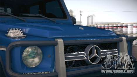 Mercedes-Benz G63 AMG 6X6 para visión interna GTA San Andreas