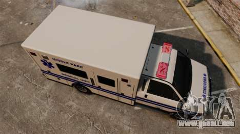 Brute MPMU Ambulance para GTA 4 visión correcta