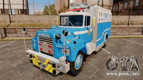 Mack R Bronx 1993 NYPD Emergency Service para GTA 4