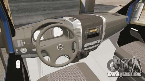 Mercedes-Benz Sprinter 2011 WWE Ultimate Warrior para GTA 4 vista hacia atrás