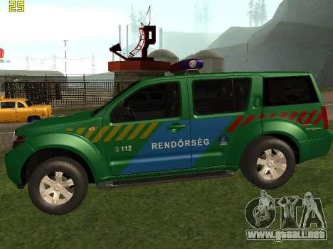 Nissan Pathfinder Police para GTA San Andreas left