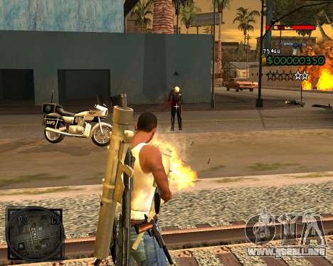 C-HUD Lite v2.0 para GTA San Andreas tercera pantalla