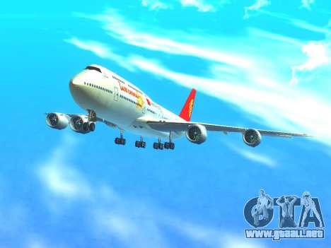 Boeing 747 Air China para la vista superior GTA San Andreas