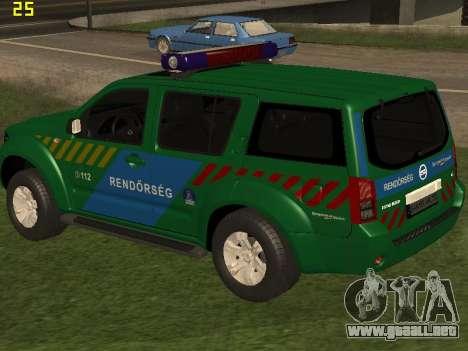 Nissan Pathfinder Police para vista inferior GTA San Andreas