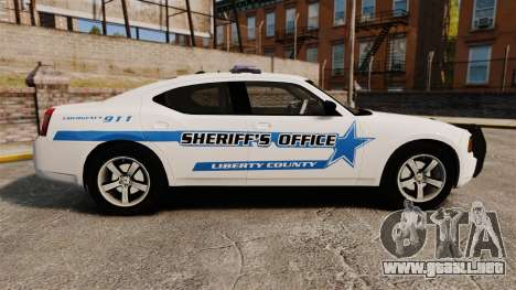 Dodge Charger 2010 Liberty County Sheriff [ELS] para GTA 4 left