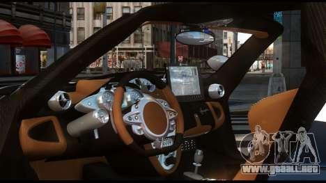 Pagani Huayra Police v1.1 para GTA 4 Vista posterior izquierda