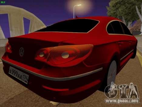 Volkswagen Passat CC para GTA San Andreas vista posterior izquierda