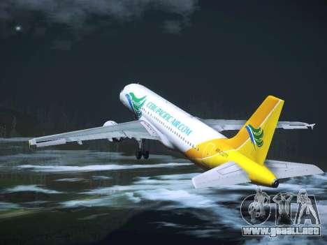 Airbus A320 Cebu Pacific Air para vista inferior GTA San Andreas