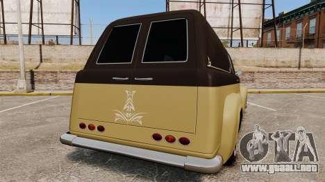Vapid Slamvan para GTA 4 Vista posterior izquierda