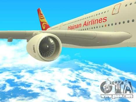A380-800 Hainan Airlines para la visión correcta GTA San Andreas