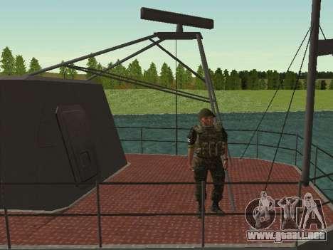 El Cuerpo de infantería de marina de las fuerzas para GTA San Andreas sexta pantalla
