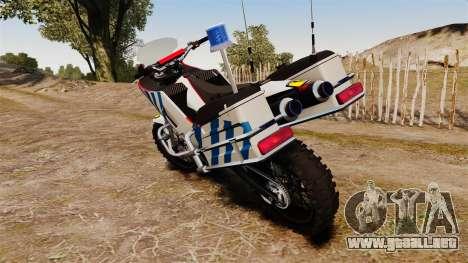 El portugués motocicleta de la policía [ELS] para GTA 4 visión correcta