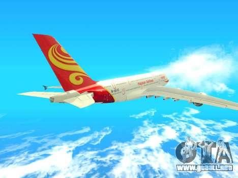 A380-800 Hainan Airlines para GTA San Andreas vista hacia atrás
