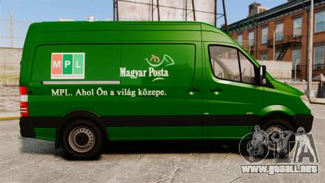 Mercedes-Benz Sprinter 2500 2011 Hungarian Post para GTA 4 left