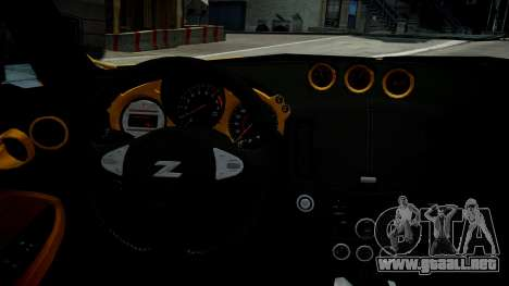 Nissan 370Z 2009 para GTA 4 vista lateral